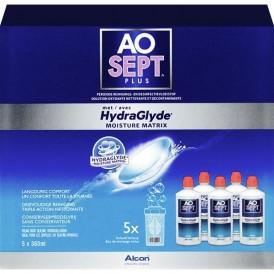 Aosept Plus with HydraGlyde Mutlipack  (5 flessen)