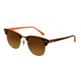Clubmaster Top Dark Brown & Orange