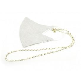 Mask Chain - Classy White/Gold