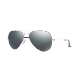 Aviator Silver Grey Mirror