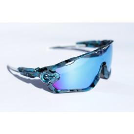 Jawbreaker Deep Blue Camo - Sapphire Iridium