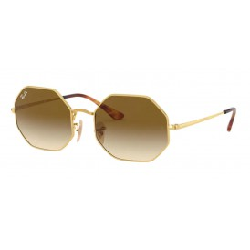 Ray-Ban Octagon - Gold + Gradient Brown
