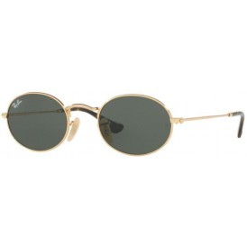 Ray-Ban Oval Flat Lenses - Gold