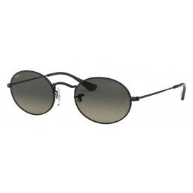 Ray-Ban Oval Flat Lenses - Black