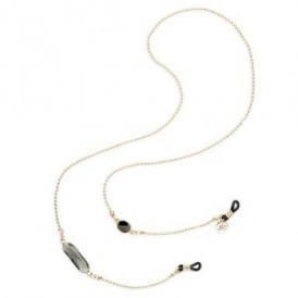 Eyewear Chain - Zwart Kristal