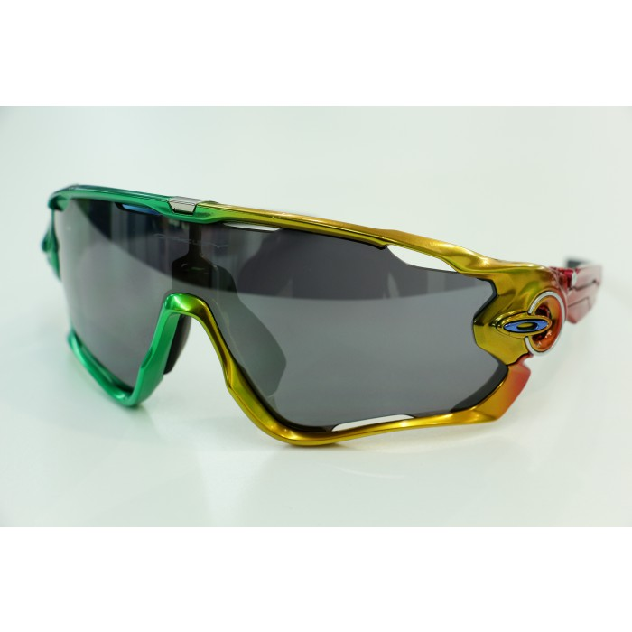 Black And Green Oakleys